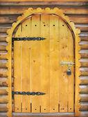 Fairy tale wooden door — Stock Photo