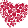 Heart from flowers - Stock Vector