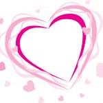 Pink heart — Stock Vector