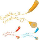 Two creative pencil — Stock Vector