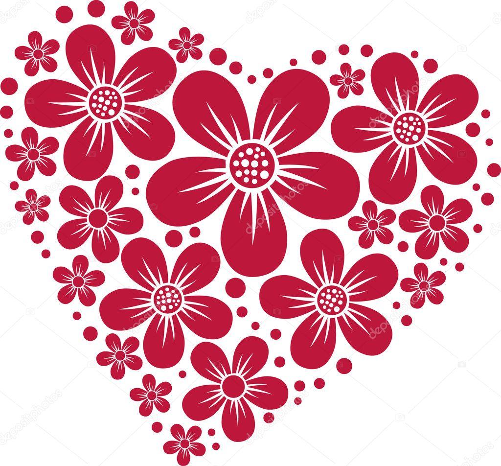 Узоры сердечки цветочки
