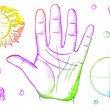 Palmistry, fortune telling - Stock Photo