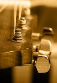 Acoustic guitar machine head — Stock Photo