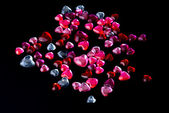 Crystal hearts — Stock Photo