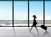 Airport silhouettes — Stock Vector