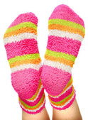 Multicoloured socks — Stock Photo
