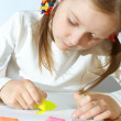 Child drawings - Stock Photo