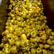 Stock Photo: Harvesting Bin of Yellow Bell Peppers