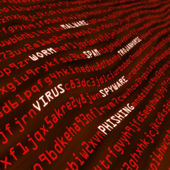 Red field of cyber attack methods — Stock Photo