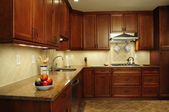 Remodeled kitchen prep area — Stock Photo