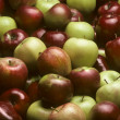 Mixed varieties of apples — Stock Photo