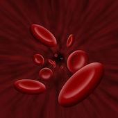 Platelet cells flow through bloodstream — Stock Photo