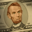 Stock Photo: Abraham Lincoln on $5 bill