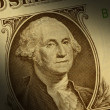 Stock Photo: George Washington on one dollar bill