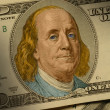 Benjamin Franklin on the $100 bill — Stock Photo