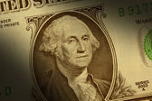 George Washington on one dollar bill — Stock Photo