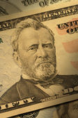 Ulysses S. Grant on the $50 bill — Stock Photo