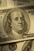 Benjamin Franklin on the $100 bill — Foto Stock