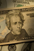 Andrew Jackson on the $20 bill — Stock Photo