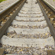 Railway rails close-up — Stock Photo