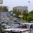 The Street Vladivostok at rush hours — Stock Photo