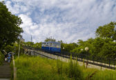 The Coach of funicular railway — Stock Photo