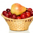 Basket with fruits — Stock Photo