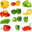 Set of different sweet peppers — Stock Photo