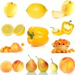 Set of yellow fruit and  vegetables — Stock Photo