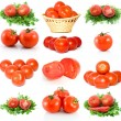 Set of red ripe tomatoes — Stockfoto