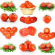 Set of red ripe tomatoes — Stok fotoğraf