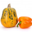 Pumpkin and orange bell pepper — Stock Photo