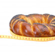 Royalty-Free Stock Photo: Fancy loaf and measurement tape