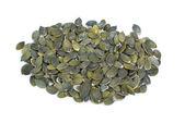 Some shelled pumpkin seeds — Stock Photo