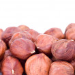 Stock Photo: Some hazelnuts
