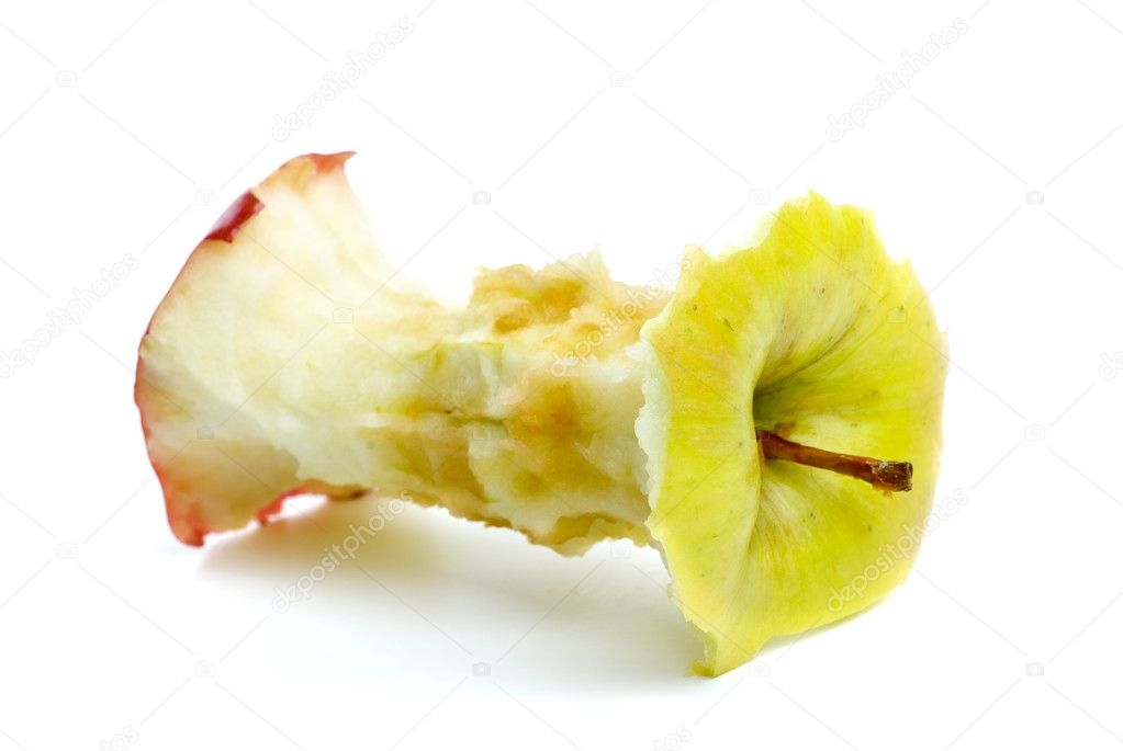 Apple core isolated on the white background — 图库照片 #1862084