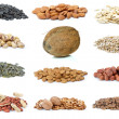 Set of different nuts — Stock Photo