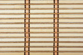 Close-up of bamboo plank straw mat — Stock Photo