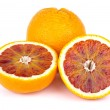 Blood (red-pulp Malta) orange and halves — Stock Photo