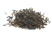 Small pile of black wild rice — Stock Photo
