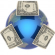 Royalty-Free Stock Photo: Dollar, covering the Earth