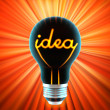Bulb, which represents the idea — Stock Photo #1620340