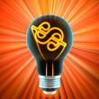 Bulb, which represents the idea — Stock Photo #1620595