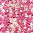 Little pink and white hearts - Stock Photo
