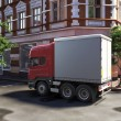 Funny concept lorry at street — Stock Photo #1622388