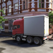 Funny concept lorry at the street — Stock Photo
