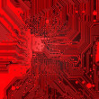 Red Electronic background texture — Stock Photo