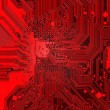 Red Electronic background texture — Stockfoto