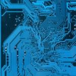 Blue Electronic background texture — Stock Photo