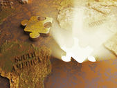 Gold beneath the crust — Stock Photo